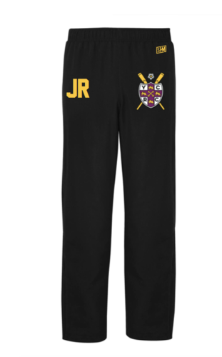 York City Rowing Womens Black Trackies (Logo Embroidery, Everything Else Print)
