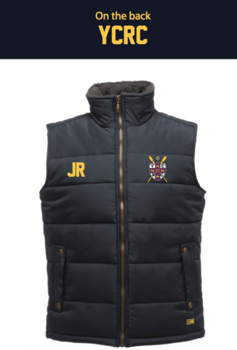 York City Rowing Navy Unisex Gilet (Logo Embroidery, Everything Else Print)