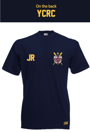 York City Rowing Navy Unisex Cotton Tee (All Print)