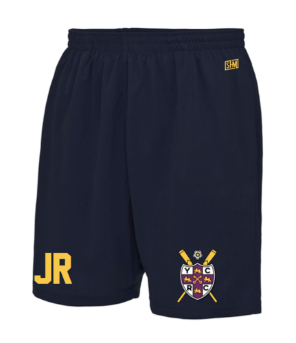 York City Rowing Navy Unisex Shorts (Logo Embroidery, Everything Else Print)