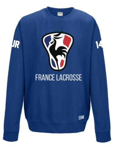 France Lacrosse Royle Blue Unisex Sweatshirt (All Print)