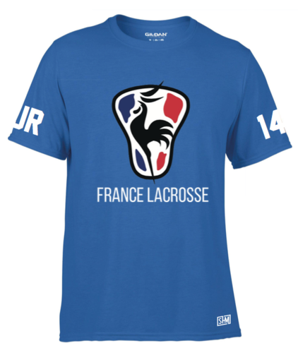 France Lacrosse Blue Womens Performance Tee (All Print)