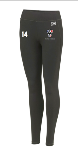 France Lacrosse Black Womens Leggings (All Print)