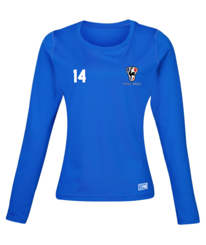 France Lacrosse Blue Womens Baselayer (All Print)