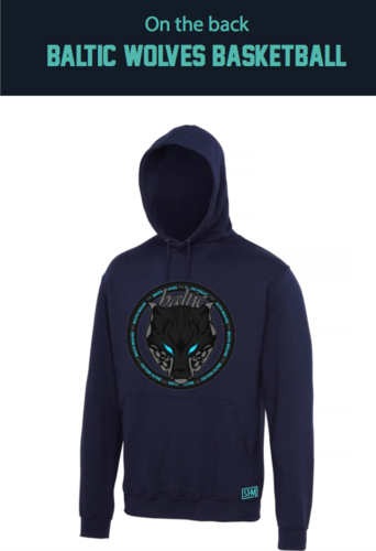 Baltic Basketball Navy Unisex Hoody (All Print)