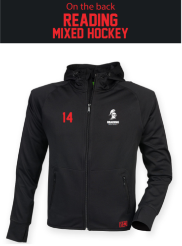 Reading University Mixed Hockey Black Mens Fitness Hoody (Everything Embroidery Except Text To Back)