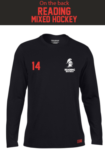 Reading University Mixed Hockey Black Mens Long Sleeved Performance Tee (All Print)