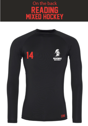 Reading University Mixed Hockey Black Mens Baselayer (All Print)