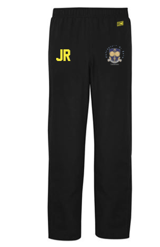 Bath Uni Lacrosse Black Womens Trackies (Logo Embroidery, Everything Else Print)