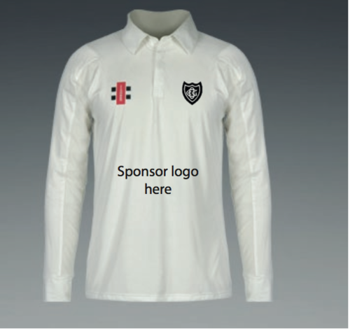 Old Glossop Junior Matrix Long Sleeved Shirt With Sponsor