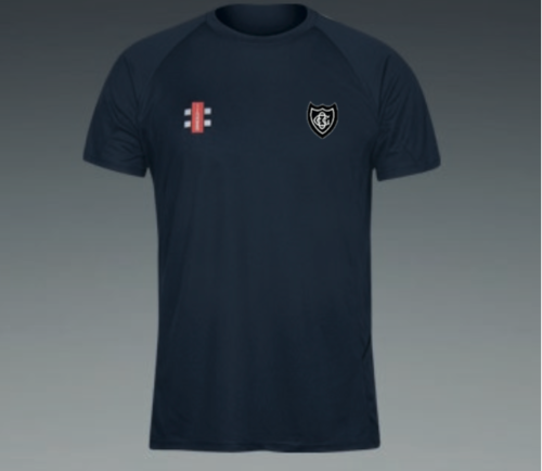 Old Glossop Navy Matrix Junior T Shirt