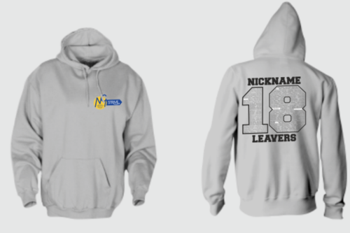 Newall Green Leavers Hoodie With Nickname