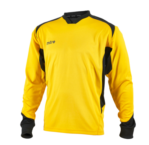 St Joesph Defence Yellow/Black Junior Goalkeeper Shirt With Logo
