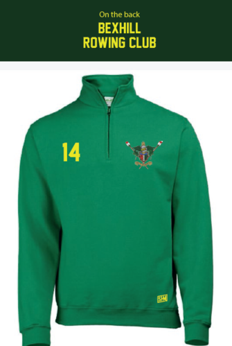 Bexhill Kelly Green Unisex Quarter Zip (Logo Embroidery, Everything Else Print)