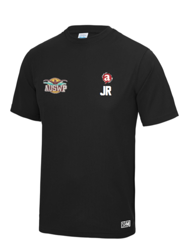 Aber Swim & Water Polo Black Mens Performance Tee (All Print)