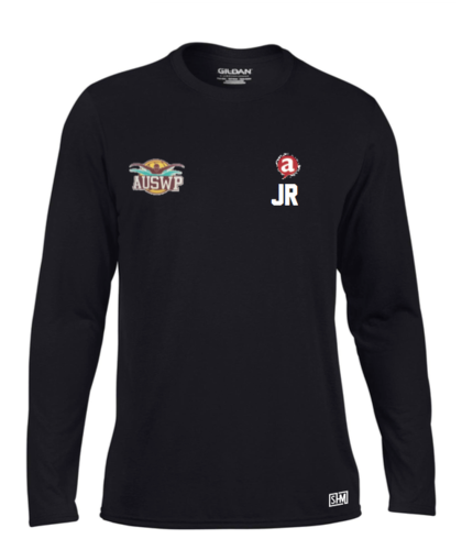Aber Swim & Water Polo Black Mens Long Sleeved Performance Tee (All Print)