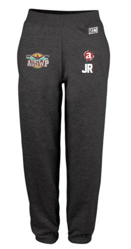Aber Swim & Water Polo Black Mens Sweatpants (Club Logo Embroidery, Everything Else Print)