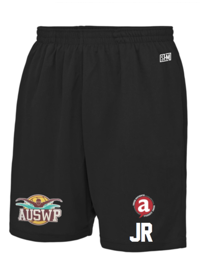 Aber Swim & Water Polo Black Unisex Shorts (All Print)