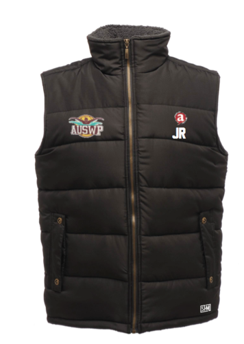 Aber Swim & Water Polo Black Unisex Gilet (Club Logo Embroidery, Everything Else Print)