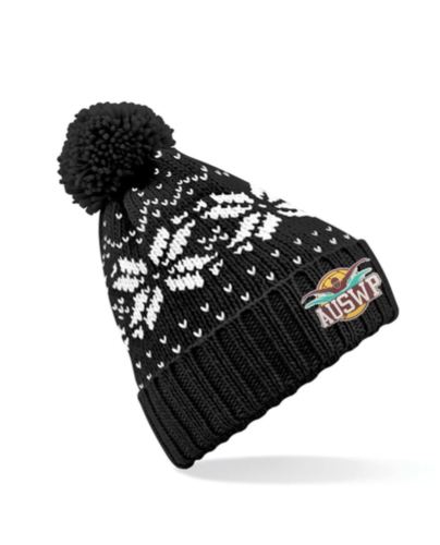 Aber Swim & Water Polo Black Beanie (All Embroidery)