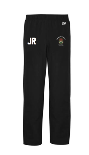 Exeter Volleyball Black Womens Trackies (Logo Embroidery, Everything Else Print)