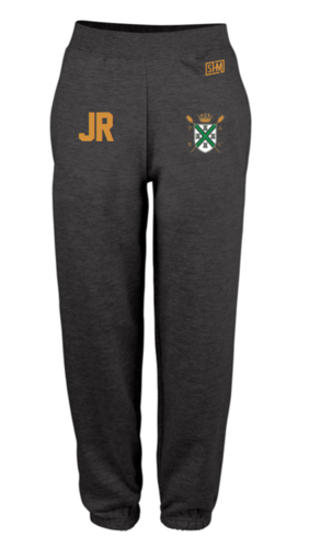 Plymouth Rowing Black Womens Sweatpants (Logo Embroidery, Everything Else Print)