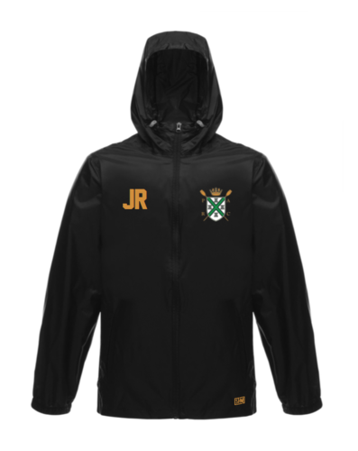 Plymouth Rowing Black Unisex Windbreaker (Logo Embroidery, Everything Else Print)