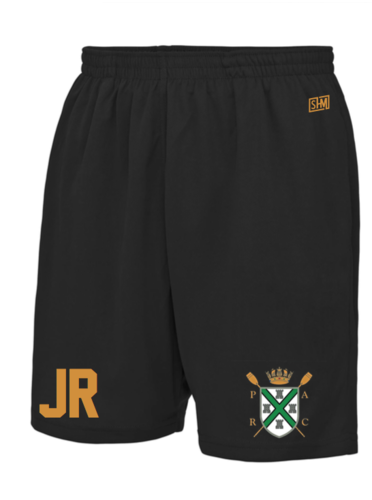 Plymouth Rowing Black Unisex Shorts (All Print)