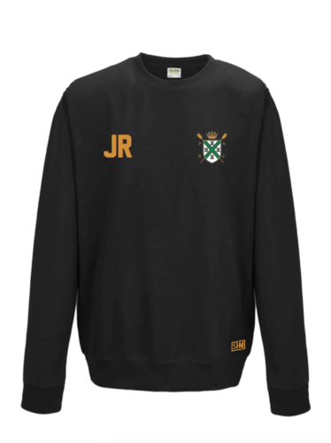 Plymouth Rowing Black Unisex Sweatshirt (Logo Embroidery, Everything Else Print)