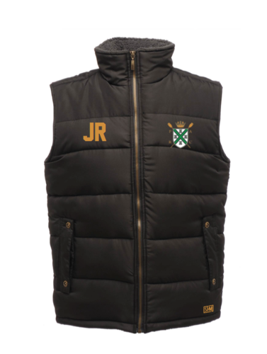 Plymouth Rowing Black Unisex Gilet (Logo Embroidery, Everything Else Print)