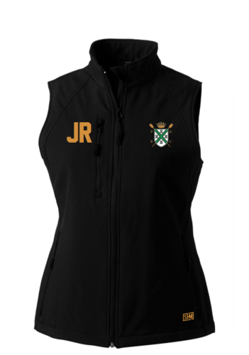 Plymouth Rowing Black Mens Softshell Gilet (Logo Embroidery, Everything Else Print)