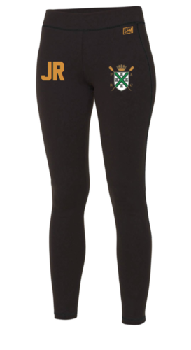 Plymouth Rowing Black Unisex Leggings (All Print)