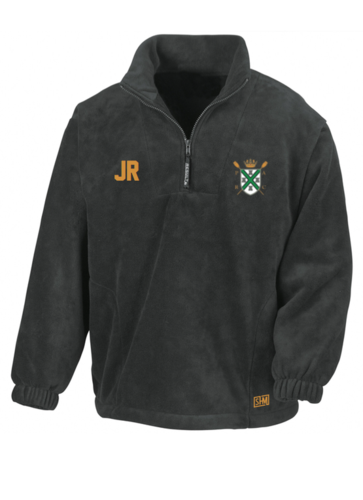 Plymouth Rowing Black Unisex Fleece (Logo Embroidery, Everything Else Print)
