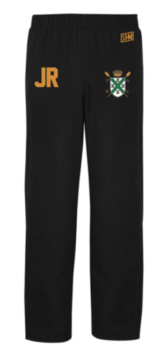 Plymouth Rowing Black Womens Trackies (Logo Embroidery, Everything Else Print)
