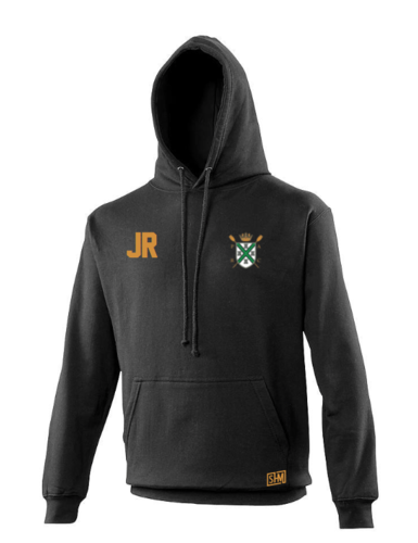 Plymouth Rowing Black Unisex Hoody (Logo Embroidery, Everything Else Print)