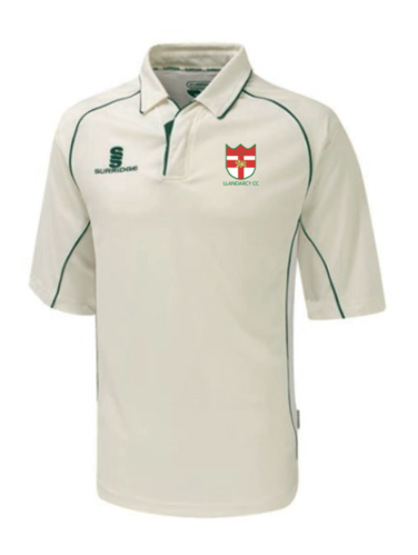 Llandarcy Cricket Surridge 3/4 Sleeve Playing Shirt With Green Trim