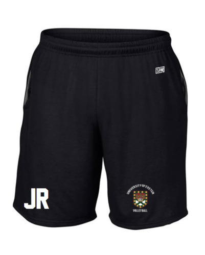 Exeter Volleyball Black Unisex Shorts (All Print)
