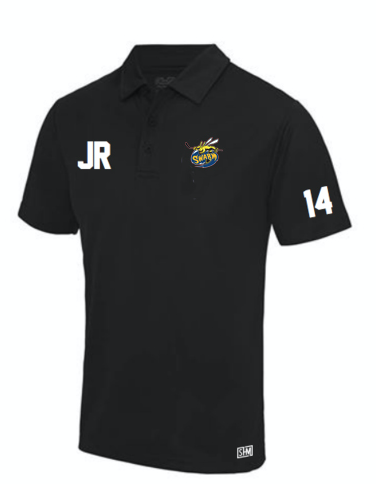 Manchester Swarm Black Mens Performance Polo (All Embroidery)