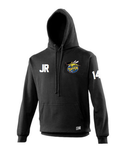 Manchester Swarm Black Mens Hoody (All Embroidery)