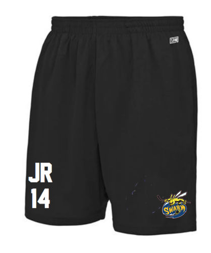 Manchester Swarm Black Mens Shorts (All Embroidery)