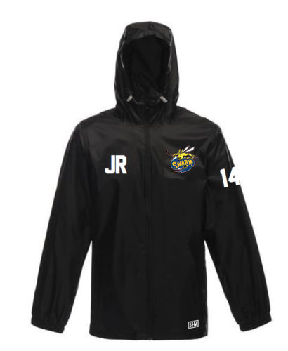 Manchester Swarm Mens Black Windbreaker (All Embroidery)
