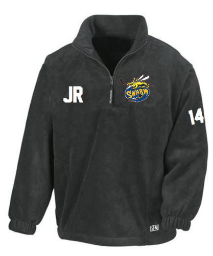 Manchester Swarm Black Mens Fleece (All Embroidery)