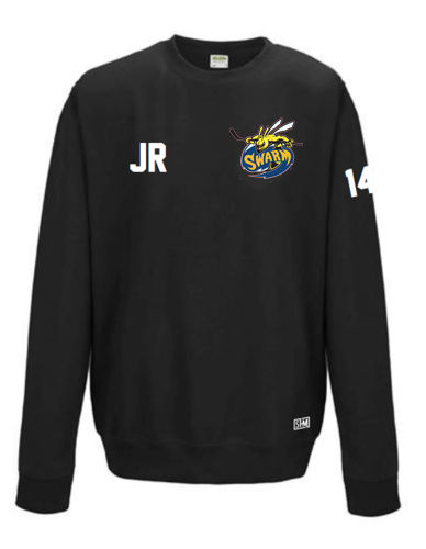 Manchester Swarm Black Mens Sweatshirt (All Embroidery)