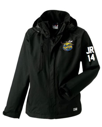 Manchester Swarm Black Mens Hydroplus Jacket (All Embroidery)