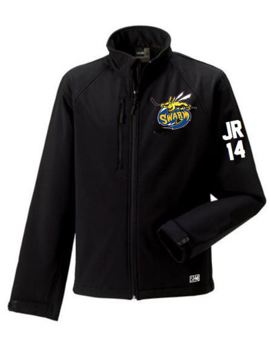 Manchester Swarm Black Mens Softshell Jacket (All Embroidery)