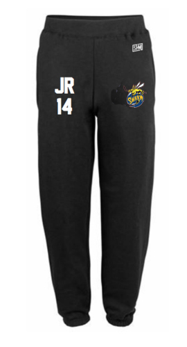 Manchester Swarm Black Mens Sweatpants (All Embroidery)