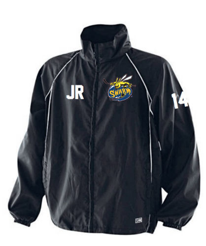 Manchester Swarm Black Mens Tracksuit Jacket (All Embroidery)