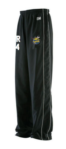 Manchester Swarm Black Mens Tracksuit Bottoms (All Embroidery)