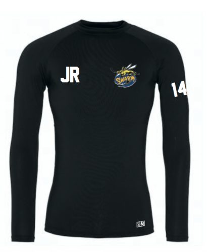 Manchester Swarm Black Mens Baselayer (All Embroidery)
