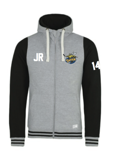 Manchester Swarm Heather Grey/Black Varsity Hoody (All Embroidery)